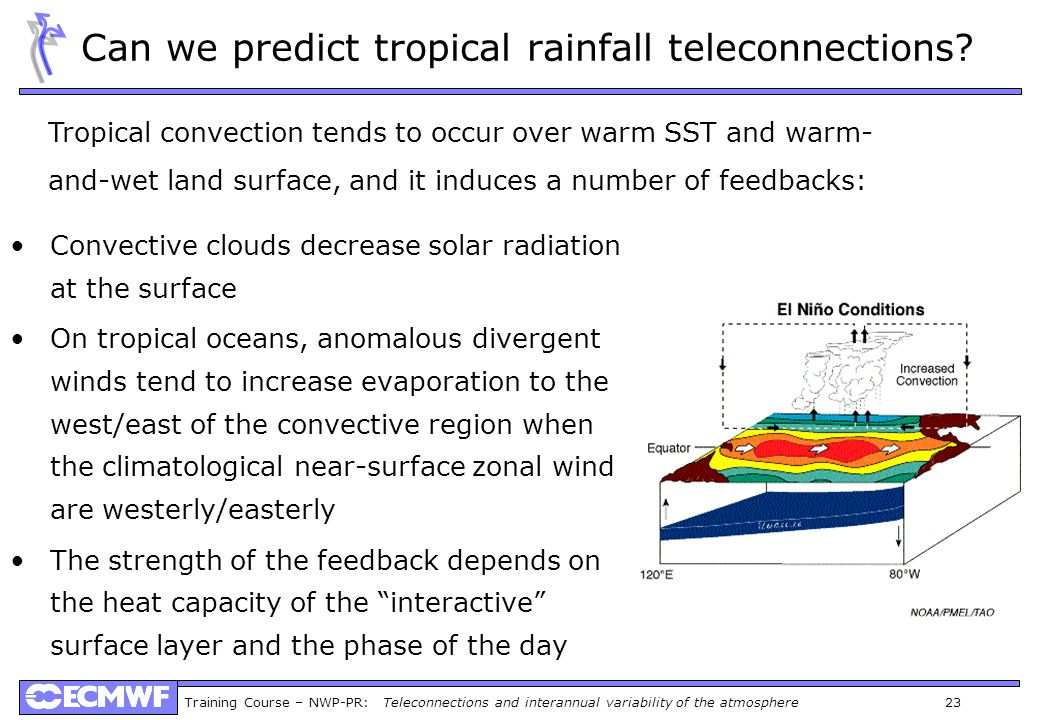 Can we predict tropical rainfall teleconnections