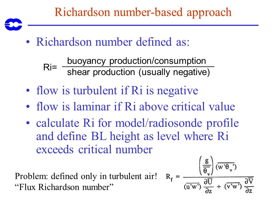 Richardson number-based approach