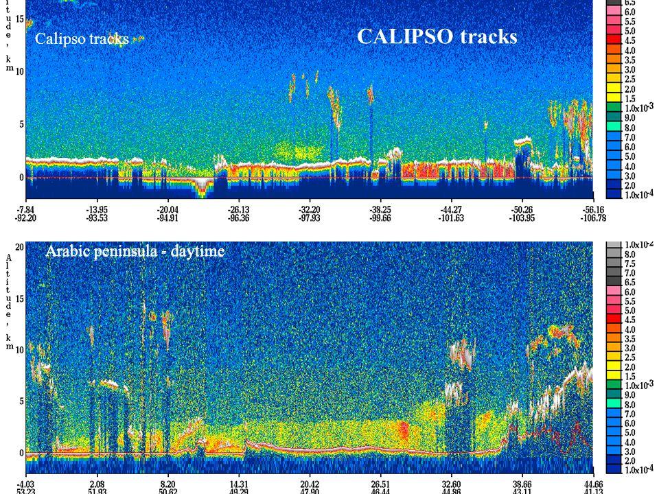 CALIPSO tracks Calipso tracks Arabic peninsula - daytime