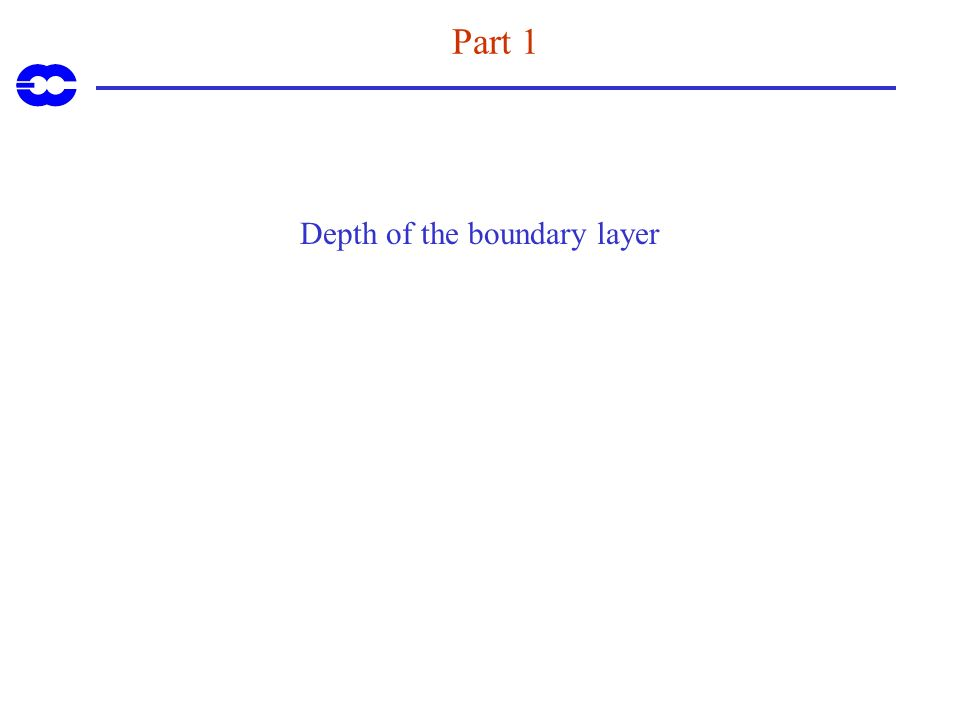 Depth of the boundary layer