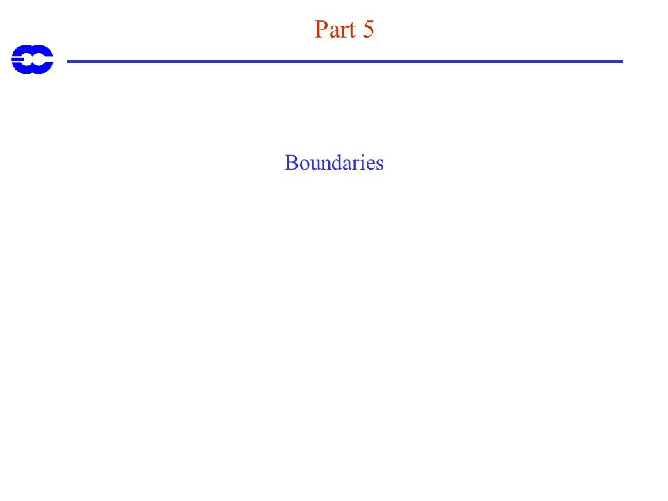 Part 5 Boundaries