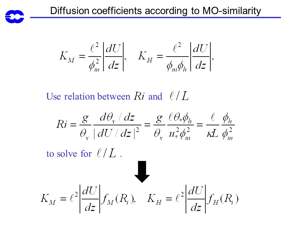 Diffusion coefficients according to MO-similarity