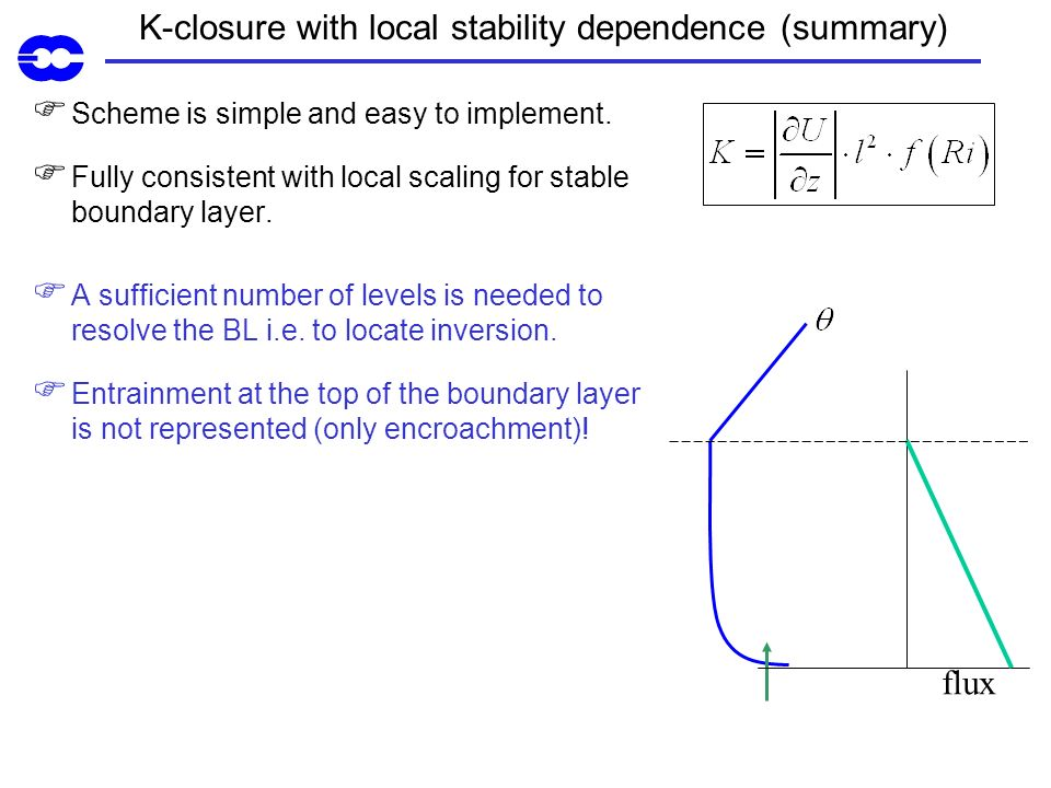 K-closure with local stability dependence (summary)