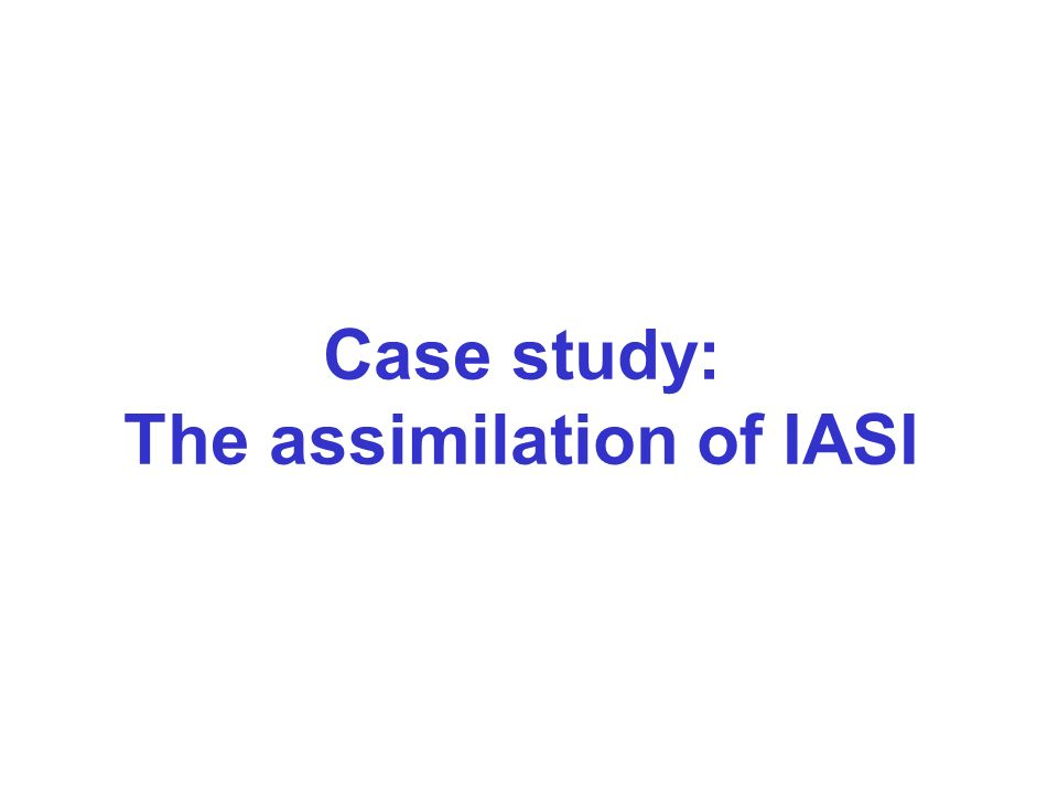 The assimilation of IASI