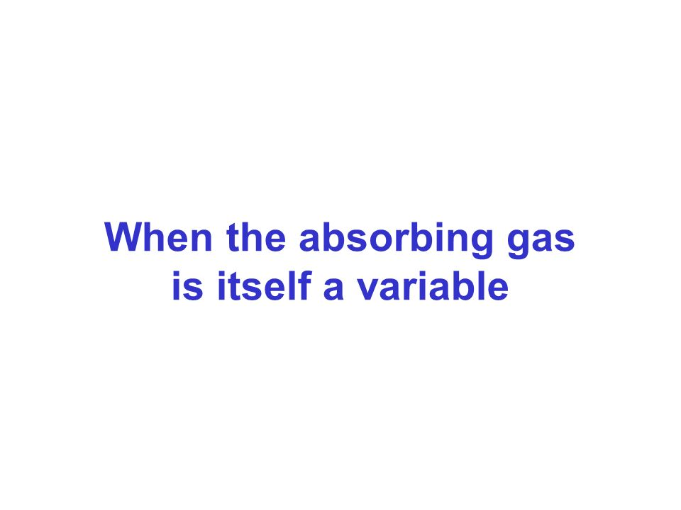 When the absorbing gas is itself a variable