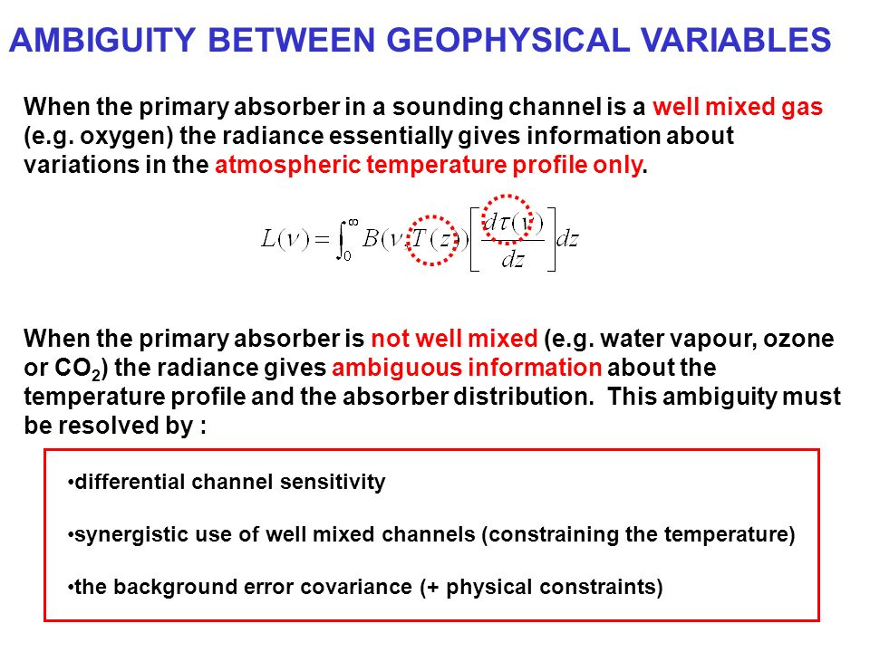 AMBIGUITY BETWEEN GEOPHYSICAL VARIABLES