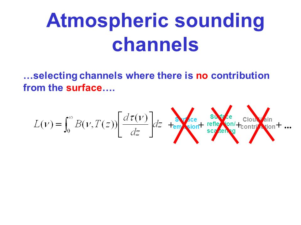 Atmospheric sounding channels