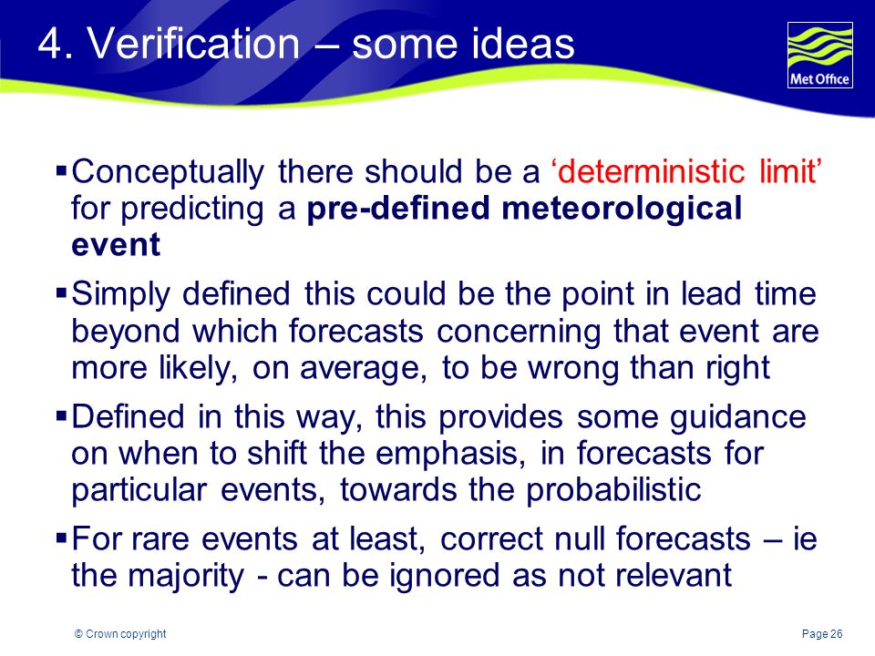 4. Verification – some ideas