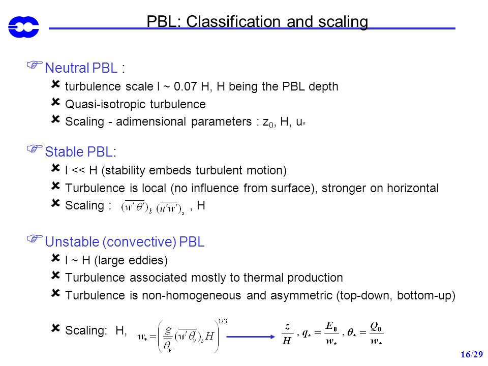 PBL: Classification and scaling
