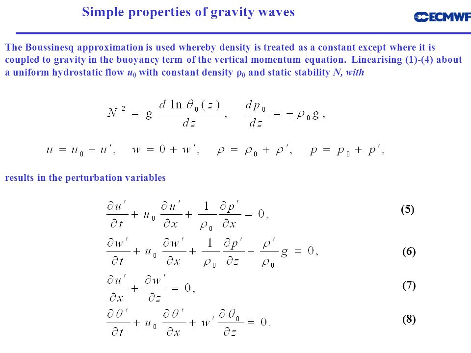 Simple properties of gravity waves