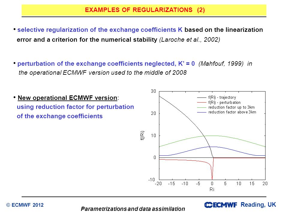 EXAMPLES OF REGULARIZATIONS (2)