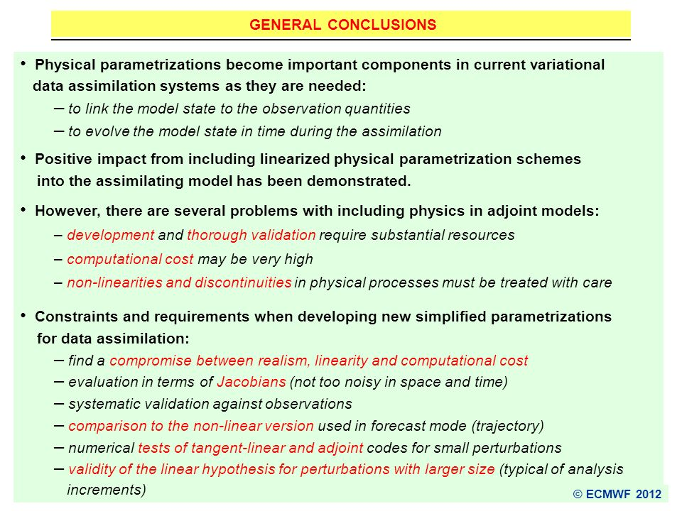 data assimilation systems as they are needed: