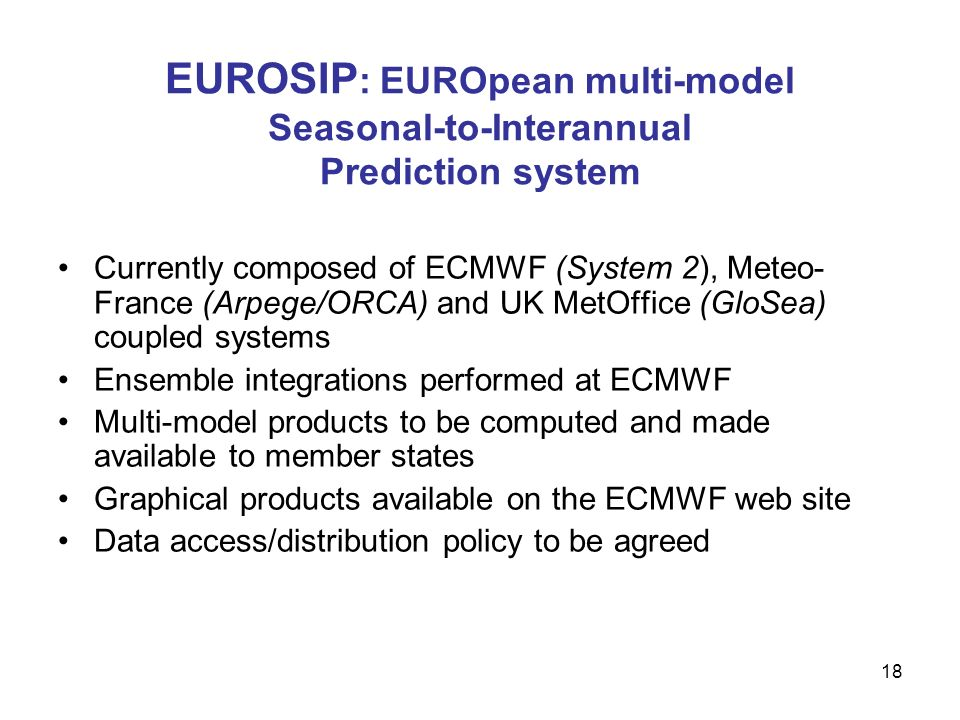 EUROSIP: EUROpean multi-model Seasonal-to-Interannual Prediction system