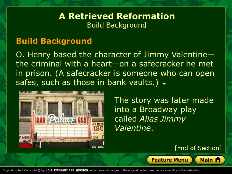 "a retrieved reformation summary A retrieved reformation summary set in the american midwest during the early  1900s, ""a retrieved reformation"" concerns the surprising fate of jimmy."