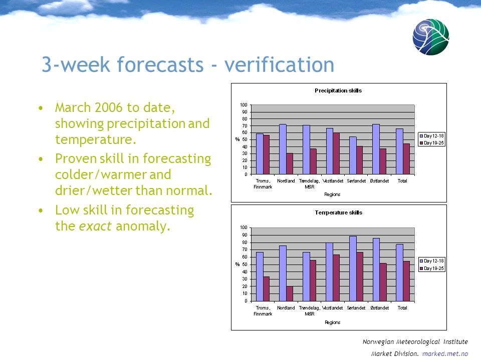 3-week forecasts - verification