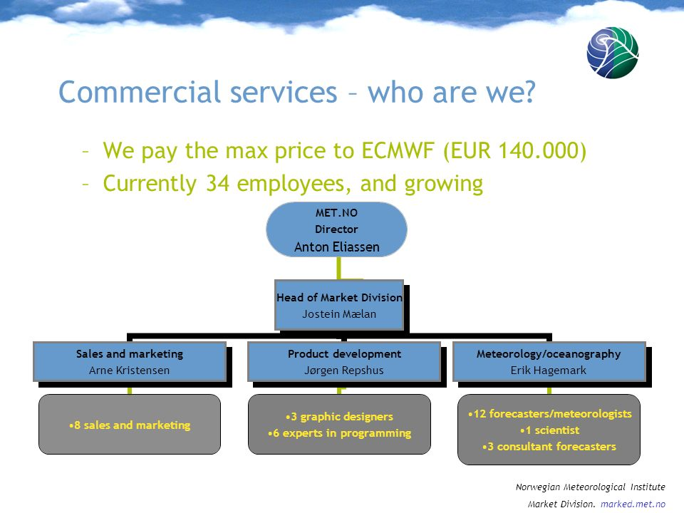 Commercial services – who are we