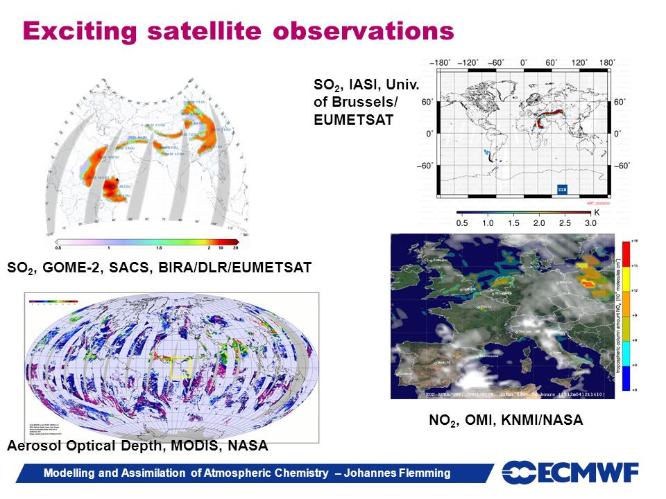 Exciting satellite observations