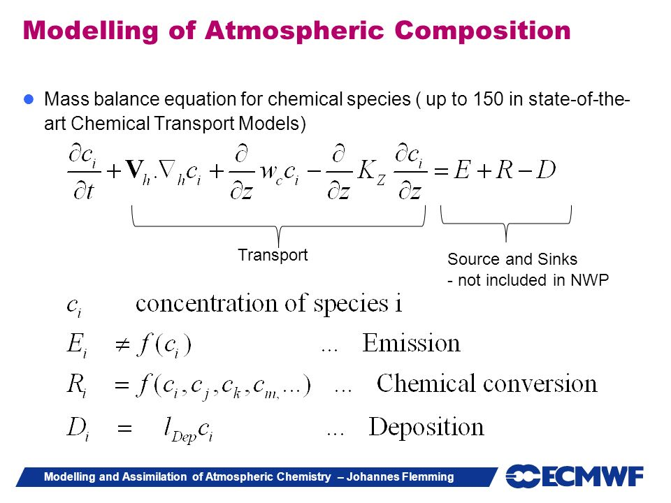 Modelling of Atmospheric Composition
