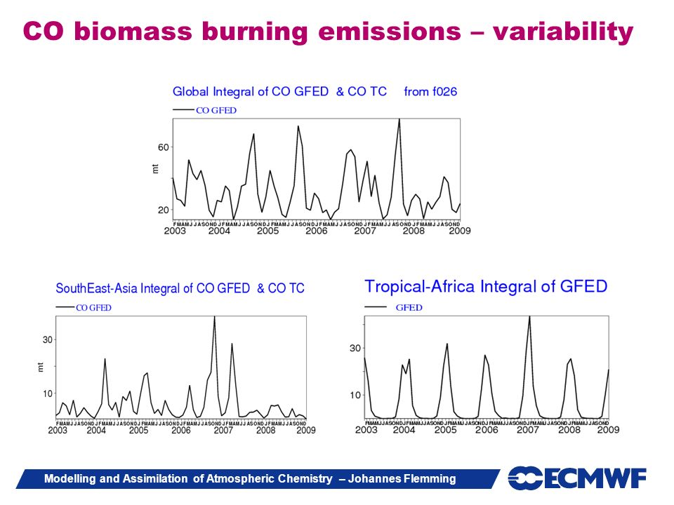 CO biomass burning emissions – variability