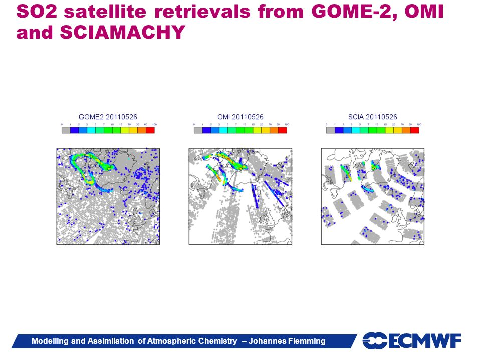 SO2 satellite retrievals from GOME-2, OMI and SCIAMACHY