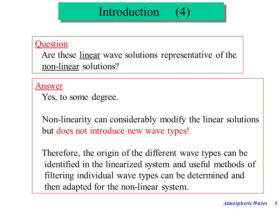 Introduction (4) Question