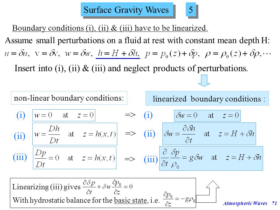 linearized boundary conditions :