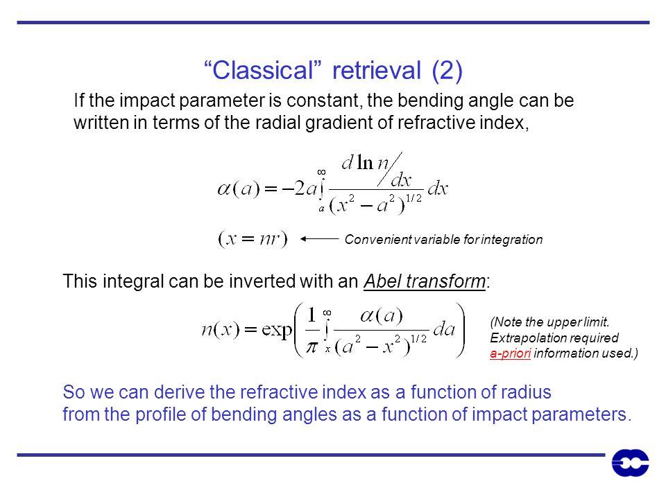Classical retrieval (2)
