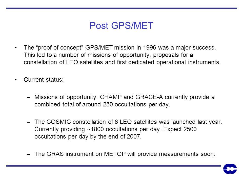 Post GPS/MET