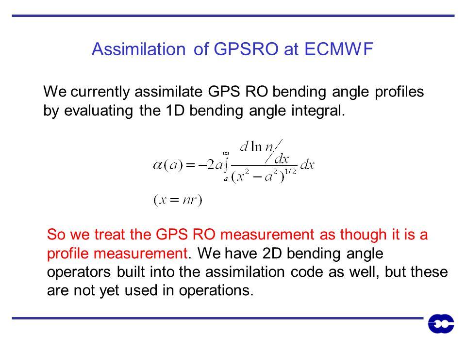 Assimilation of GPSRO at ECMWF