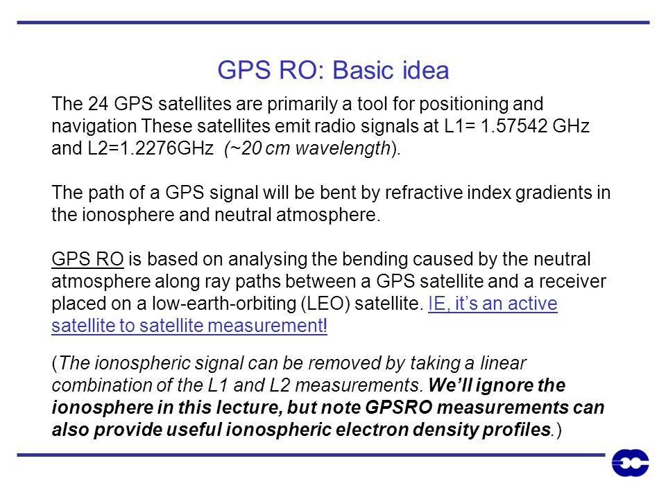 GPS RO: Basic idea