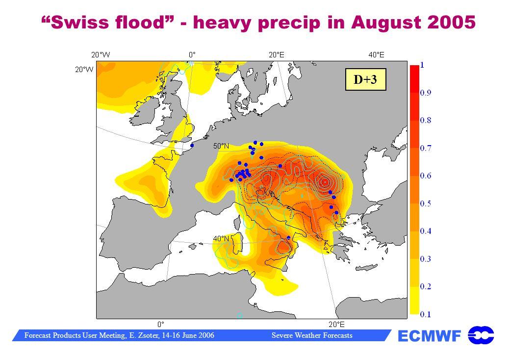 Swiss flood - heavy precip in August 2005