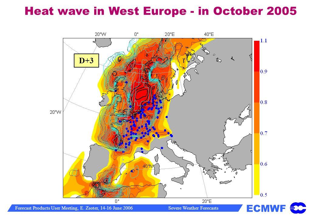 Heat wave in West Europe - in October 2005