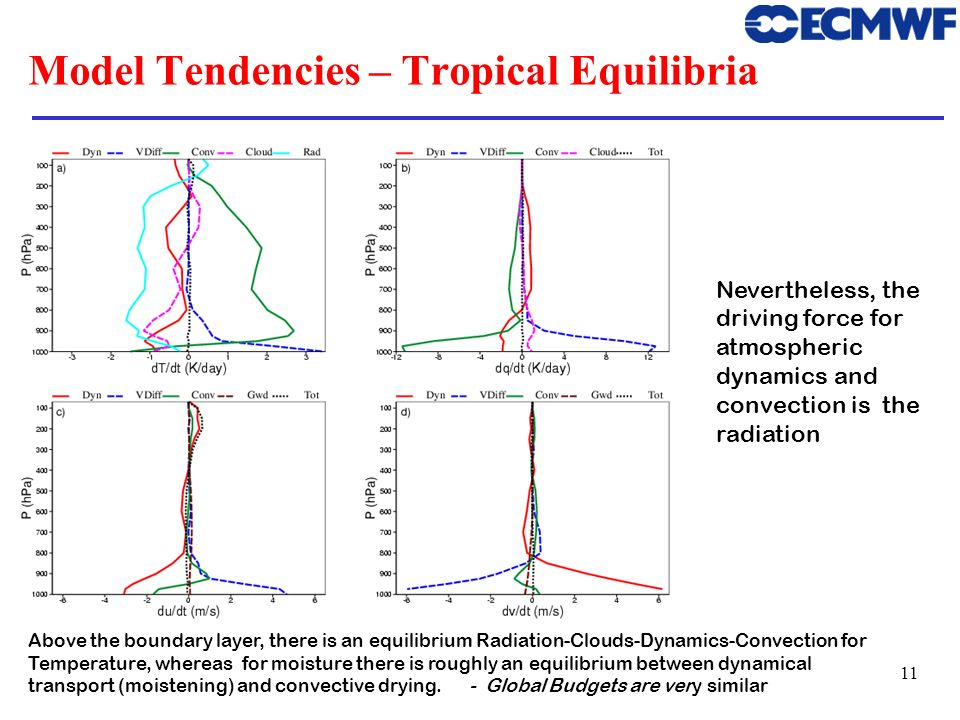 Model Tendencies – Tropical Equilibria