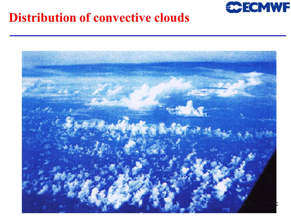 Distribution of convective clouds
