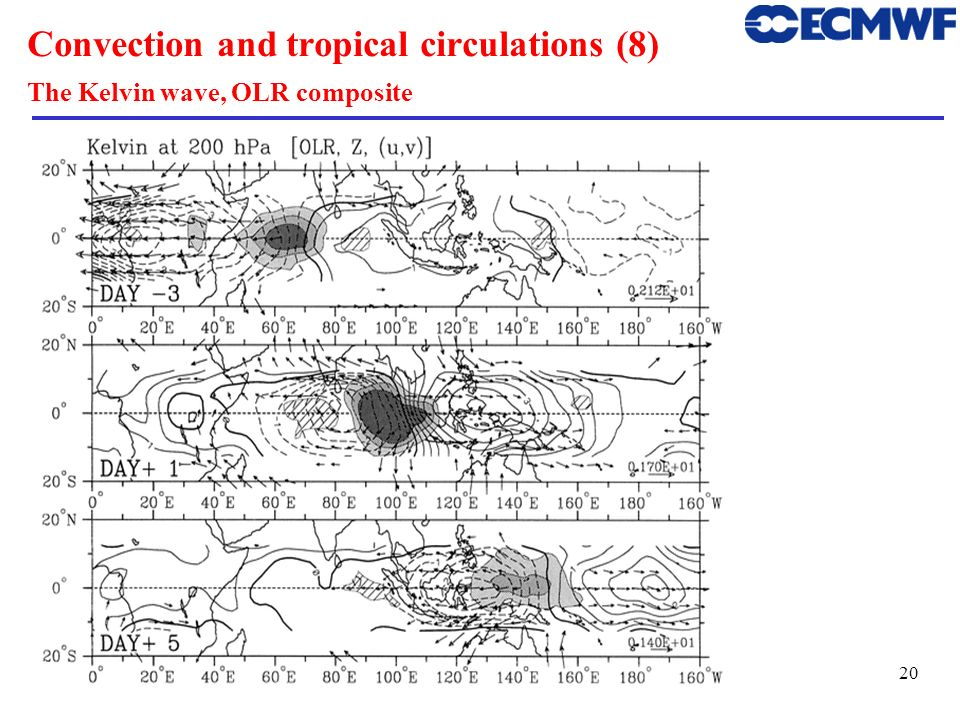Convection and tropical circulations (8) The Kelvin wave, OLR composite