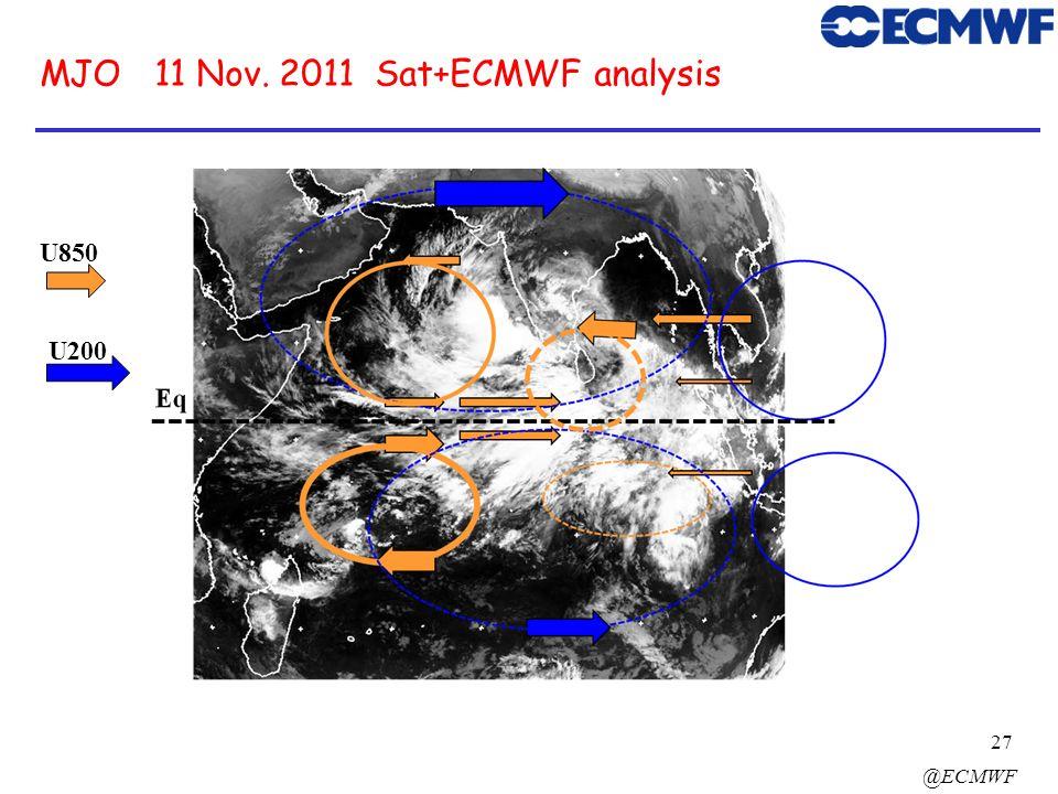 MJO 11 Nov. 2011 Sat+ECMWF analysis