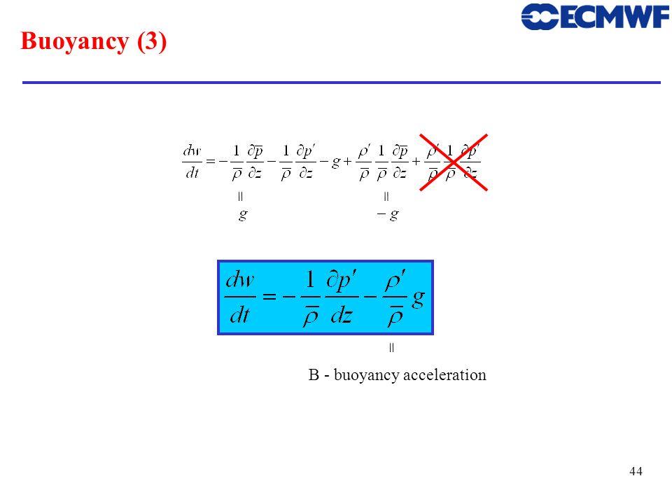 B - buoyancy acceleration