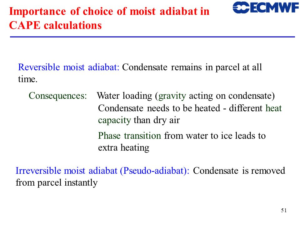 Importance of choice of moist adiabat in CAPE calculations