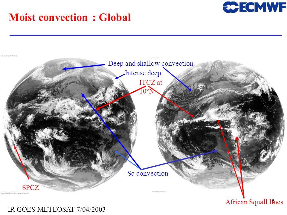 Moist convection : Global