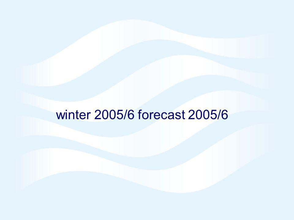 winter 2005/6 forecast 2005/6 © Crown copyright 2005