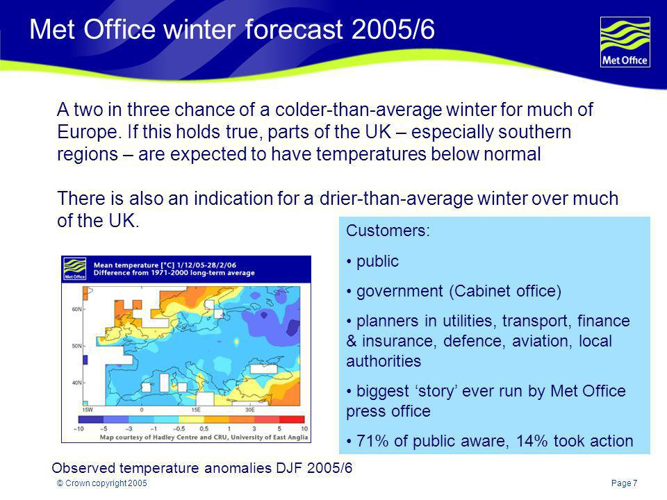 Met Office winter forecast 2005/6