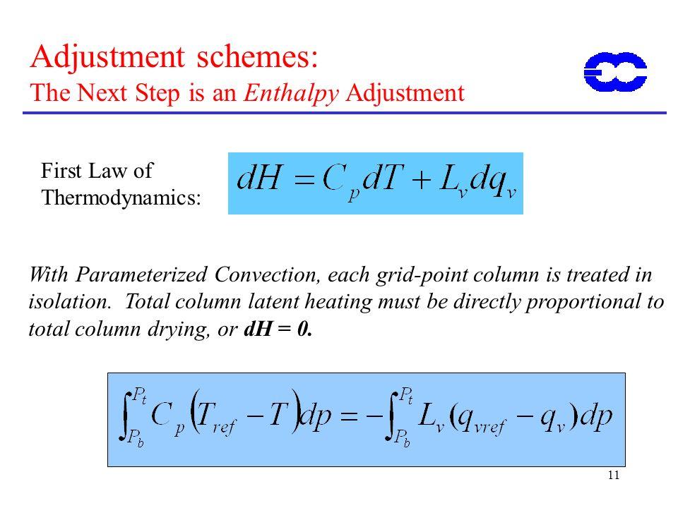 Adjustment schemes: The Next Step is an Enthalpy Adjustment