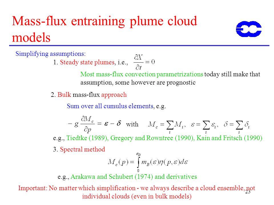 Mass-flux entraining plume cloud models