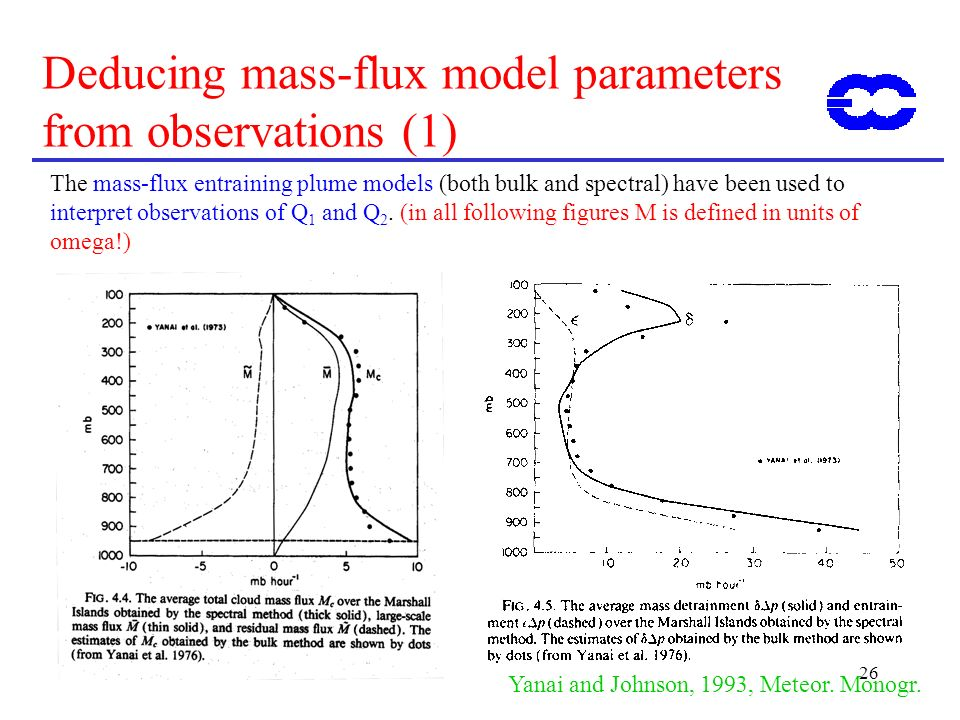 Deducing mass-flux model parameters from observations (1)