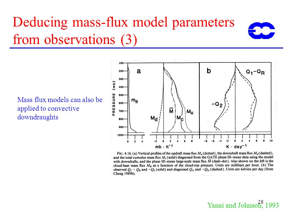 Deducing mass-flux model parameters from observations (3)