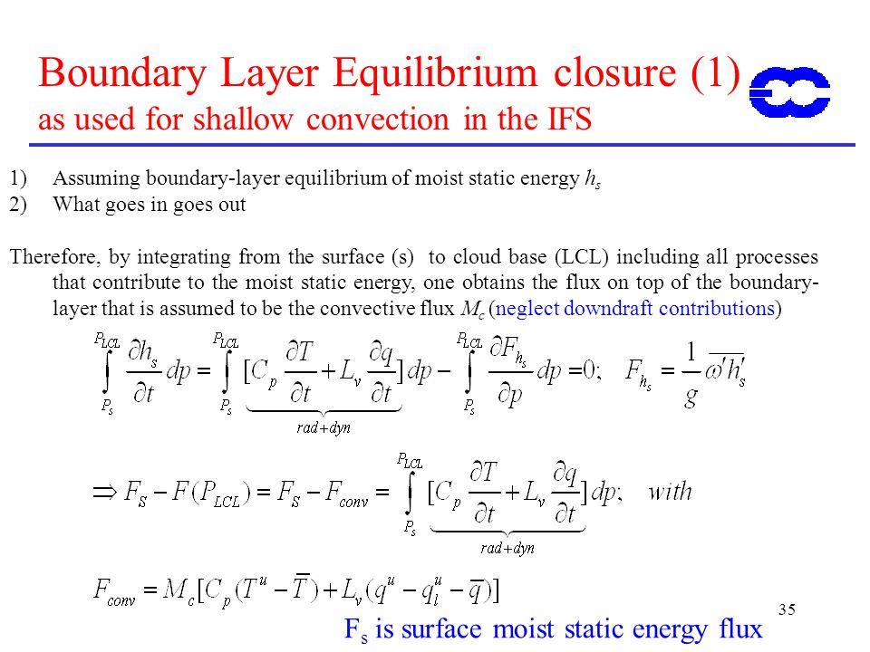 Fs is surface moist static energy flux