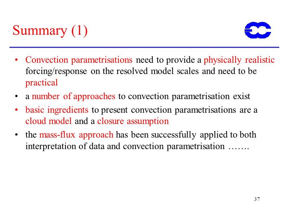 ECMWF Training Course 02 May 2000. Summary (1)
