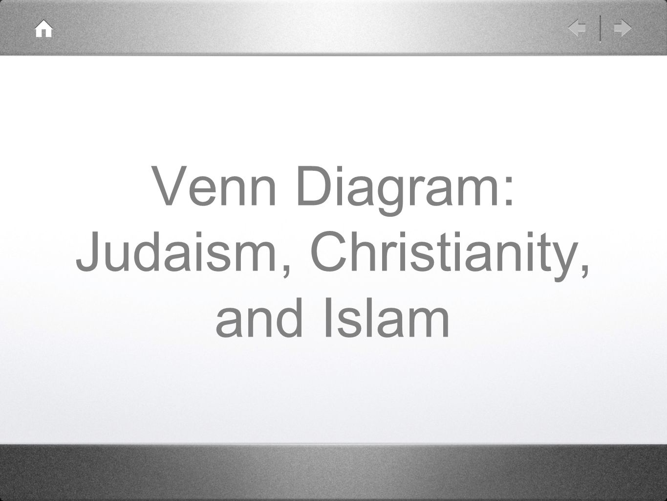 Venn Diagram: Judaism, Christianity, and Islam - ppt download