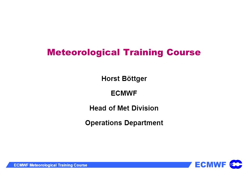 Meteorological Training Course