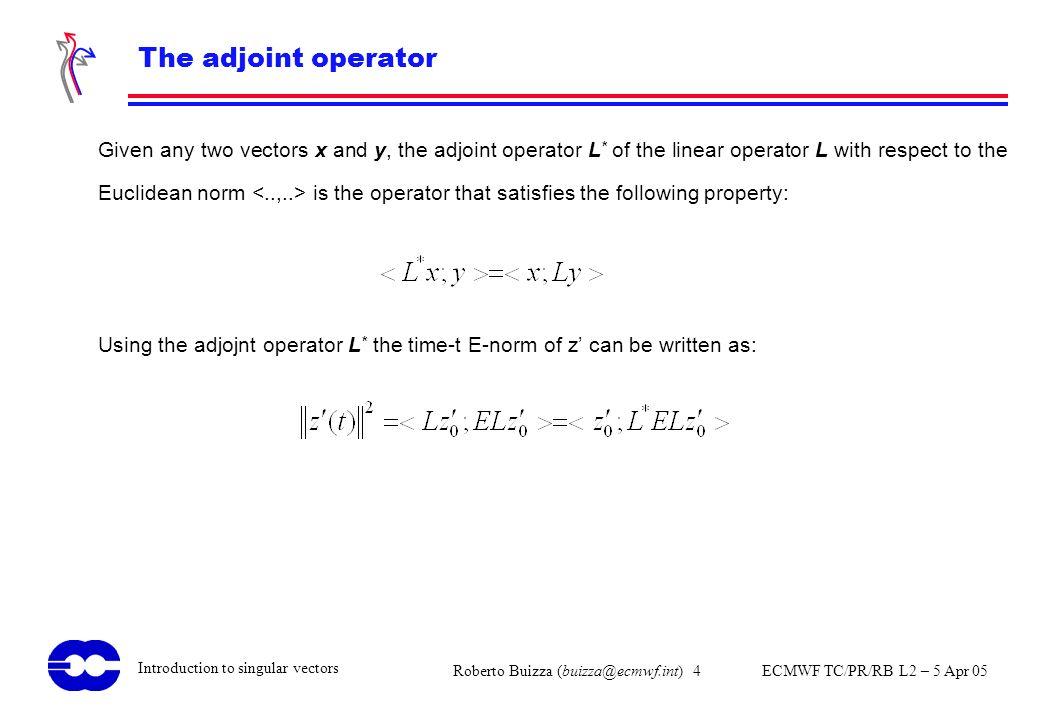 The adjoint operator